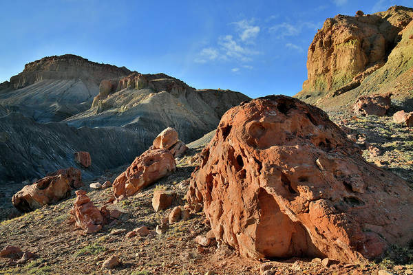 Photograph - Miller Canyon Boulders Along Utah's I-70 by Ray Mathis
