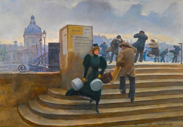 Wall Art - Painting - Milliner On The Pont Des Arts by Jean Beraud