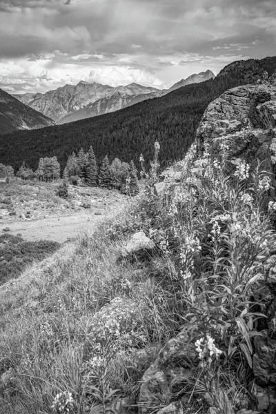 Photograph - Million Dollar Highway View - Colorado San Juan Mountains - Monochrome by Gregory Ballos