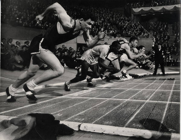 Madison Square Garden Photograph - Millrose Games In Madison Square Garden by Gjon Mili