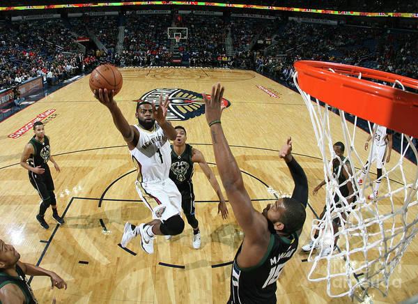Photograph - Milwaukee Bucks V New Orleans Pelicans by Layne Murdoch Jr.