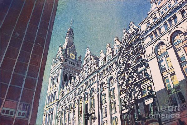 Wall Art - Painting - Milwaukee City Hall by Ryan Fox