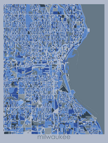 Wall Art - Digital Art - Milwaukee Map Retro 5 by Bekim M