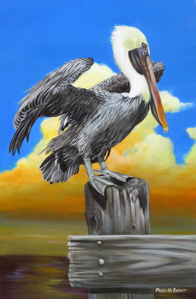 Wall Art - Painting - Mimi's Pelican 1 by Phyllis Beiser