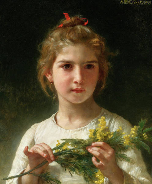 Wall Art - Painting - Mimosa, 19th Century by William-Adolphe Bouguereau