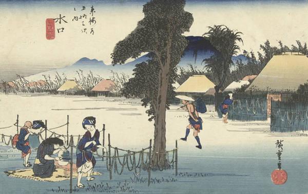 Wall Art - Relief - Minakuchi, With The Famous Local Product, Kanpyo by Utagawa Hiroshige