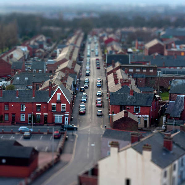 Manchester Photograph - Minature Town With Toy Like Appearance by Paul Myers-bennett