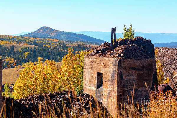 Photograph - Mine Ruins In Autumn Aspen by Steve Krull
