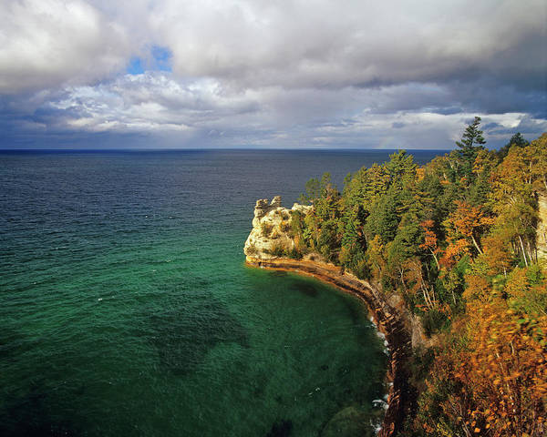 Lake Superior Photograph - Miners Castle, Pictured Rocks National by Danita Delimont