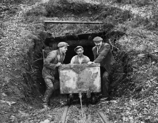 Miners Photograph - Miners by Fox Photos