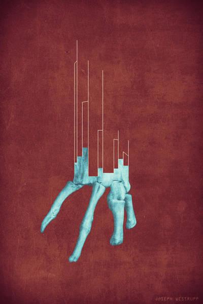 Figurative Abstract Photograph - Minerva - Abstract Geometric Bone Art by Joseph Westrupp