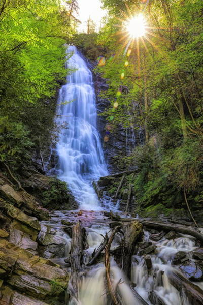 Photograph - Mingo Falls Sunburst by Dan Sproul