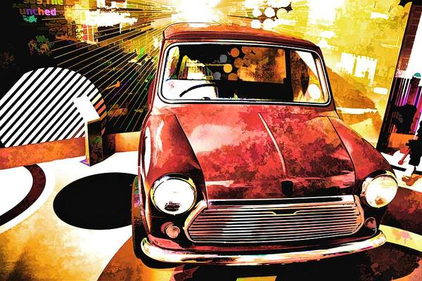 Mini Cooper Wall Art - Painting - Mini Cooper by ArtMarketJapan