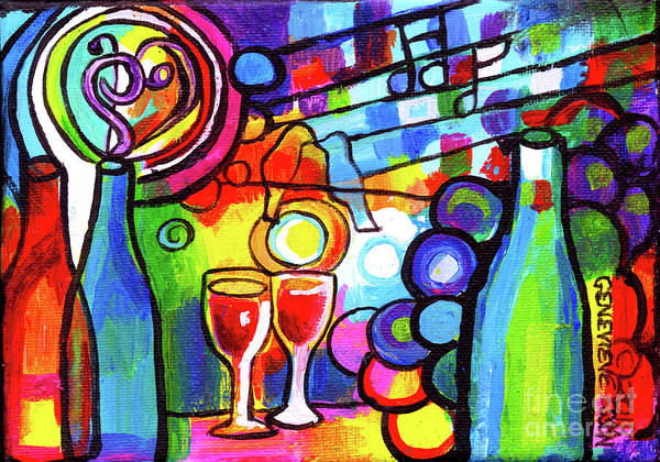 Wall Art - Painting - Mini Wine Menagerie Abstract by Genevieve Esson
