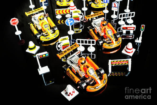 Black Car Photograph - Miniature Motorsports by Jorgo Photography - Wall Art Gallery