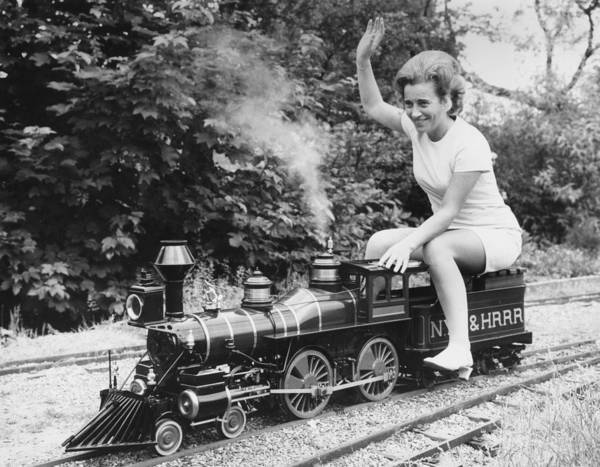 Adult Humor Photograph - Miniature Train by Ted West
