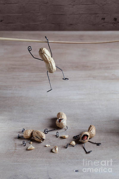 Wall Art - Photograph - Miniature With Peanut People Trying To by Nailia Schwarz