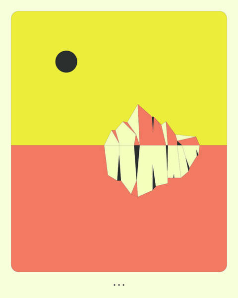 Wall Art - Digital Art - Minimal Landscape 10, Iceberg by Jazzberry Blue