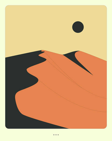 Wall Art - Digital Art - Minimal Landscape 12, Desert Sand Dune by Jazzberry Blue