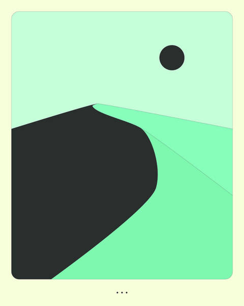 Wall Art - Digital Art - Minimal Landscape 13, Desert Sand Dune by Jazzberry Blue