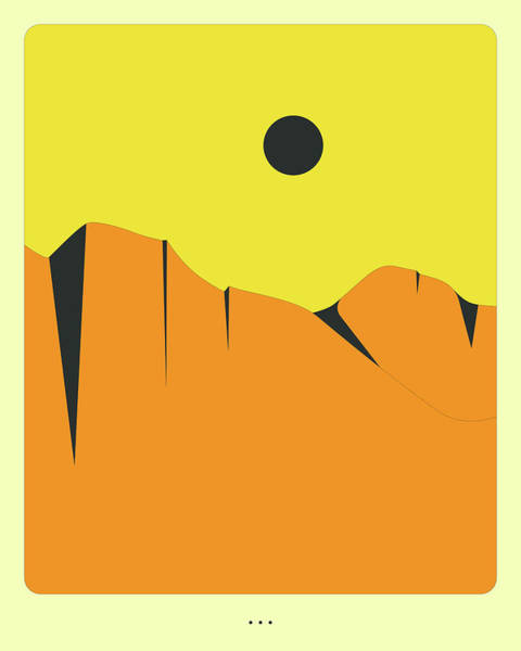 Hills Digital Art - Minimal Landscape 16, Desert Mountains by Jazzberry Blue
