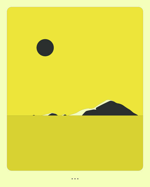Wall Art - Digital Art - Minimal Landscape 22, Seascape by Jazzberry Blue