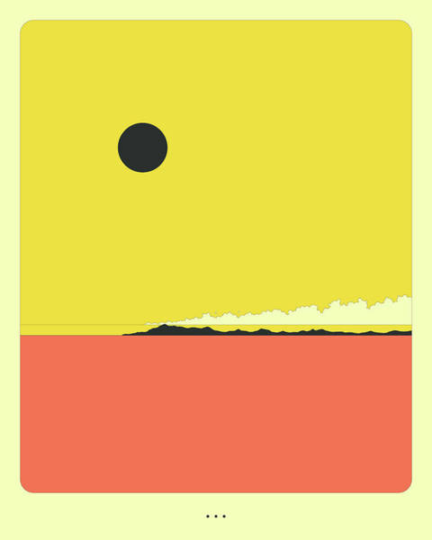 Sunrise Digital Art - Minimal Landscape 26, Desertscape by Jazzberry Blue