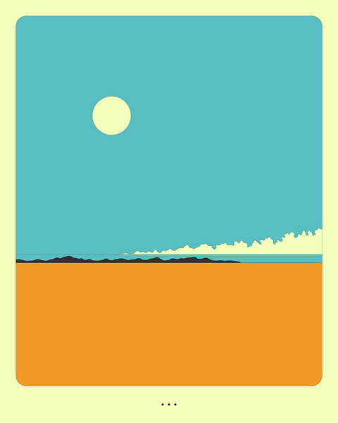 Wall Art - Digital Art - Minimal Landscape 27, Desertscape by Jazzberry Blue