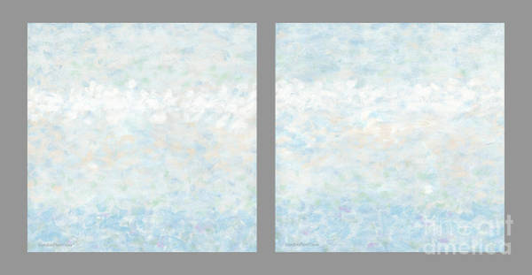 Painting - Minimal Modern Art Diptych 2 by Gordon Punt