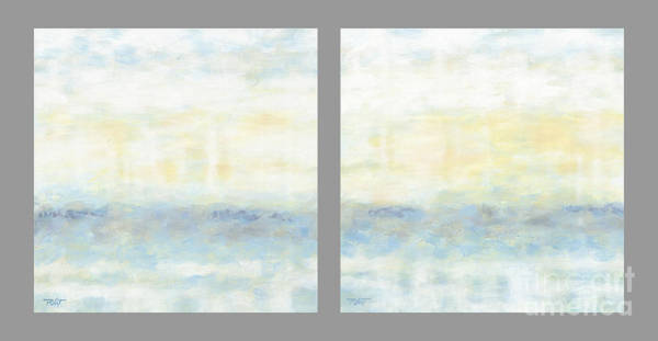 Painting - Minimalist Painting Diptych by Gordon Punt