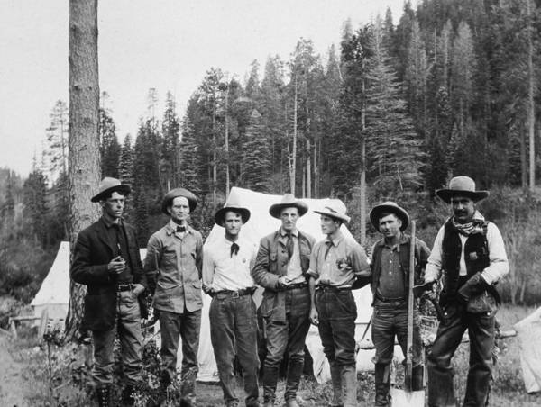 Gold Rush Wall Art - Photograph - Mining Prospectors by Hulton Archive
