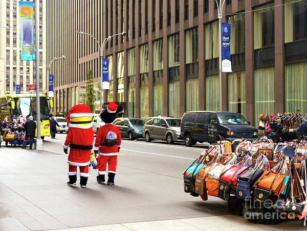 Photograph - Minions Christmas In New York City by John Rizzuto