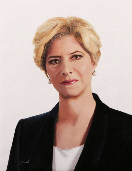 Wall Art - Painting - ministro Roberta Pinotti by Guido Borelli