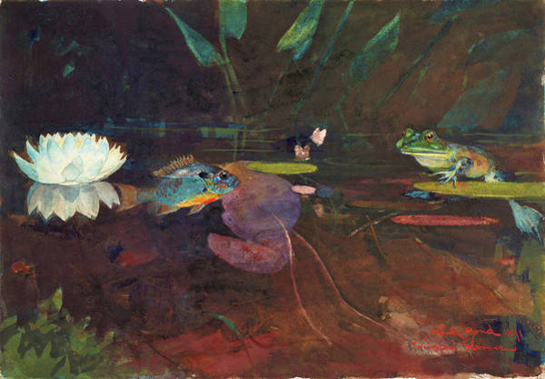 Wall Art - Painting - Mink Pond - Digital Remastered Edition by Winslow Homer