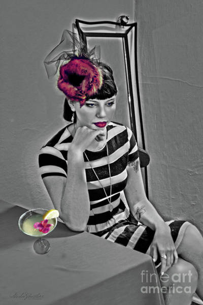 Millinery Photograph - Minky Thinky Drinky Pinky - Sexy Lady by LeeAnn Gauthier