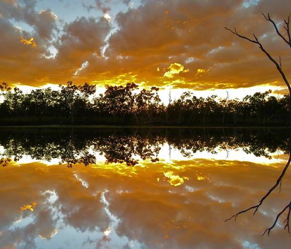 Photograph - Minnamoolka Sunset Reflection 1 by Joan Stratton