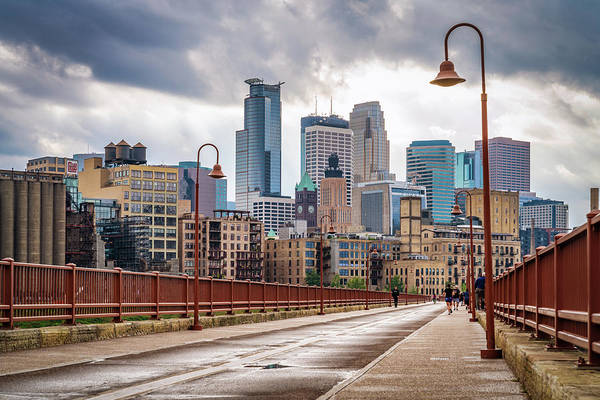 Photograph - Minneapolis Boardwalk Diagonal View by Framing Places