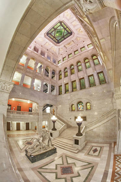 Photograph - Minneapolis City Hall Rotunda by Jim Hughes