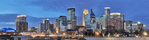 Photograph - Minneapolis Skyline At Dusk by Jim Hughes