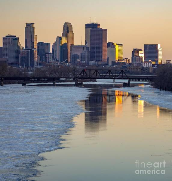 Photograph - Minneapolis Skyline At Sunset 2 by Susan Rydberg