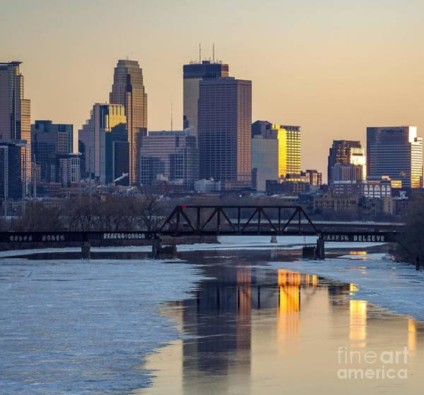Photograph - Minneapolis Skyline At Sunset by Susan Rydberg