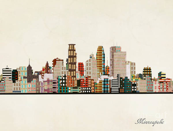 Wall Art - Painting - Minneapolis Skyline by Bri Buckley
