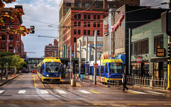 Photograph - Minneapolis Trams by Framing Places