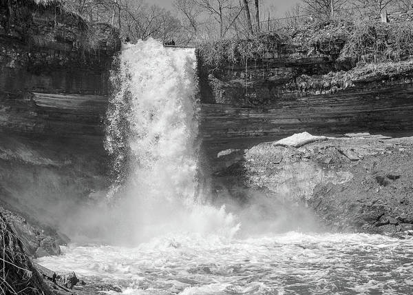 Photograph - Minnehaha Falls In Minneapolis by Jim Hughes