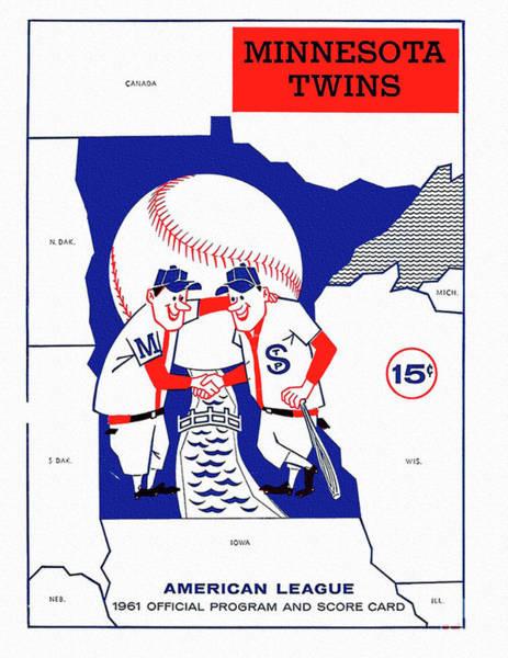 Minnesota Twins Painting - Minnesota Twins 1961 Scorecard by Big 88 Artworks