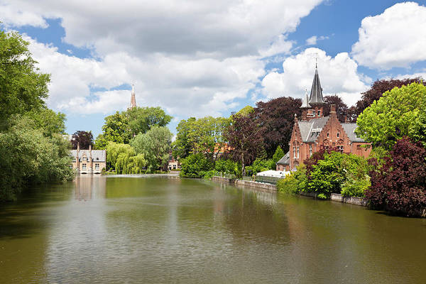 Belgium Photograph - Minnewater Castle In Bruges, Belgium by Michaelutech