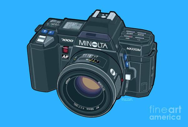 Wall Art - Digital Art - Minolta Maxxum Alpha 7000 35mm Autofocus Slr by Tom Mayer