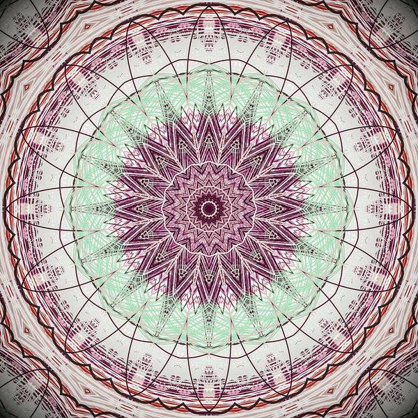 Digital Art - Mint Green Mauve Mandala by Sheila Wenzel