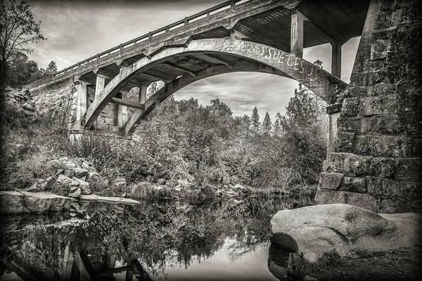 Photograph - Mira Paradis Bridge - Bw by Jonathan Hansen