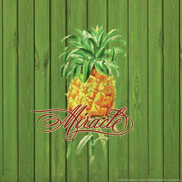 Pineapple Digital Art - Miracle by Yellow Caf�